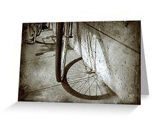 Wheel shadow Greeting Card