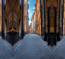 Alley Way III - (The Old City) Stockholm, Sweden by Mark Richards