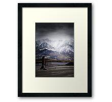 Imaginary landscapes: The wanderer Framed Print