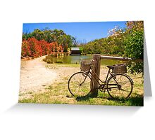 A bicycle in Hahndorf, Adelaide Hills Greeting Card