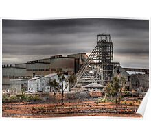 Mining Landscape Poster