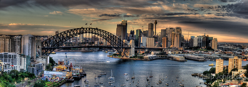 Sydney Moods (20 Exposure HDR Panorama) - The HDR Experience by Philip Johnson