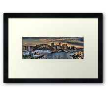 Sydney Moods (20 Exposure HDR Panorama) - The HDR Experience Framed Print