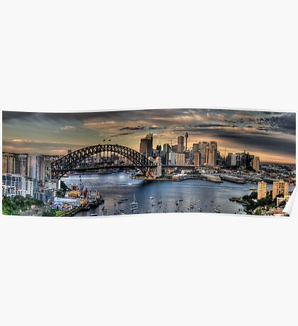 Sydney Moods (20 Exposure HDR Panorama) - The HDR Experience Poster