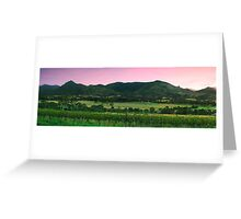 Outback mountain and field in the Scenic Rim, Queensland. Greeting Card
