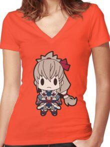 Fire Emblem Fates: Takumi Chibi Women's Fitted V-Neck T-Shirt