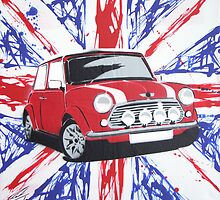 British Mini 02 Painting by Richard Yeomans