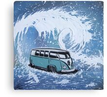 Splitty Wave 01 Painting Canvas Print