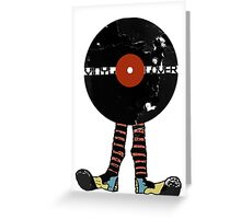 Funny Vinyl Records Lover - Grunge Vinyl Record Notebooks and more Greeting Card