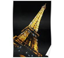 Eiffel Tower at night sparkling Poster