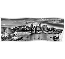 It's All Black & White - Sydney harbour, Sydney Australia (20 Exposure HDR Pano) - The HDR Experience Poster