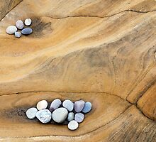 Sandsone And Pebbles by Jim Robertson