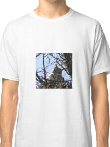 GREAT HORNED OWL AND BABY Classic T-Shirt