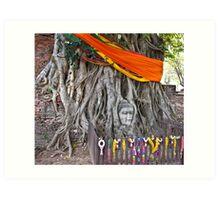 Buddha in the Banyan Tree Art Print
