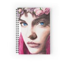 Pink Hair Girl Spiral Notebook
