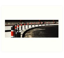 Bollards on the Bridge Art Print