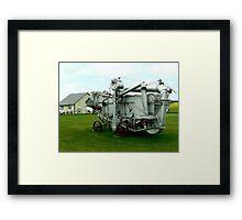 OLD THRESHING MACHINE Framed Print