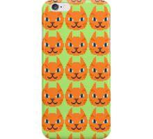 Orange Tabby Cat Pattern iPhone Case/Skin