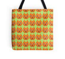 Orange Tabby Cat Pattern Tote Bag