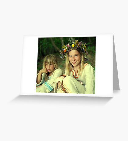smile two Ukrainian girls Greeting Card