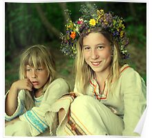 smile two Ukrainian girls Poster