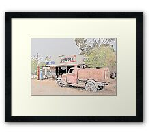Heritage Garage and Tanker Framed Print