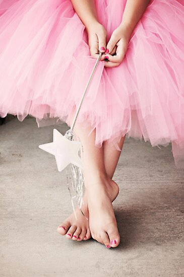 Ballerina Toes- Little Girl in a Pink Tutu by sunrisern