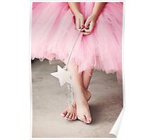 Ballerina Toes- Little Girl in a Pink Tutu Poster