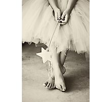 Ballerina Toes, Black & White- Little Girl in a Tutu Photographic Print
