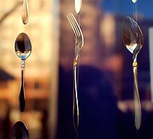 spoon and fork by Iuliia Dumnova