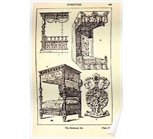 A Handbook Of Ornament With Three Hundred Plates Franz Sales Meyer 1896 0475 Furniture Bedstead Bed Poster