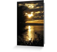 Sunset over Lake Taupo - New Zealand Greeting Card