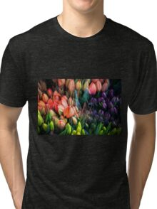 Painted Tulips Tri-blend T-Shirt