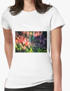 Painted Tulips Womens Fitted T-Shirt