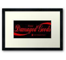 Damaged Goods Framed Print