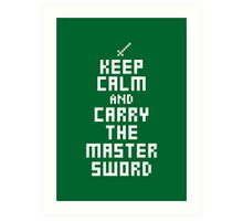 Keep Calm and Carry on Gaming7 Art Print