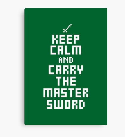 Keep Calm and Carry on Gaming7 Canvas Print