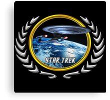 Star trek Federation of Planets Enterprise D Canvas Print