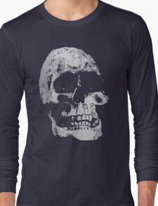 Grunge Cool Skull Long Sleeve T-Shirt