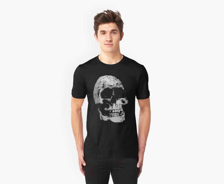 Grunge Cool Skull by Denis Marsili