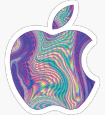 Holographic Apple Sticker