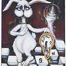 """White Rabbit,""""Dali-ish Wonderland"""" by m catherine doherty"""