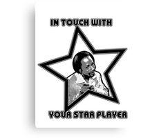Star Player Canvas Print