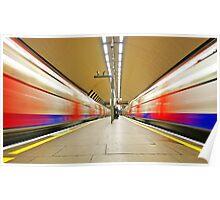 London Underground Mirror - Clapham underground station Poster