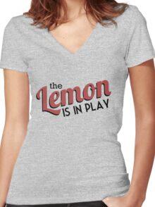 [CP] - The Travelling Lemon Women's Fitted V-Neck T-Shirt