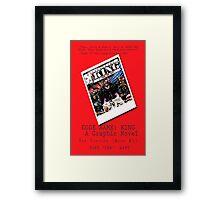 """Code Name: King""  - ALTERNATE Comic Book Promo Poster  Framed Print"