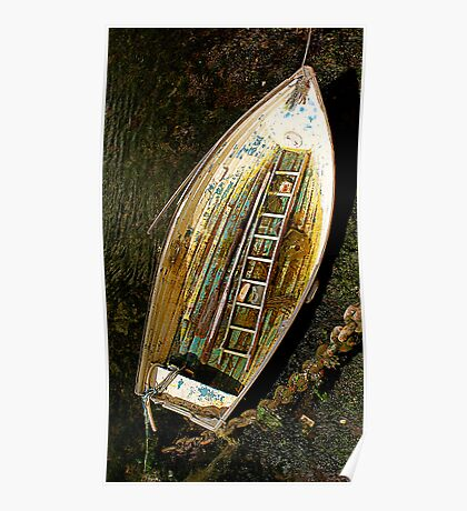 Small boat with ladder Poster