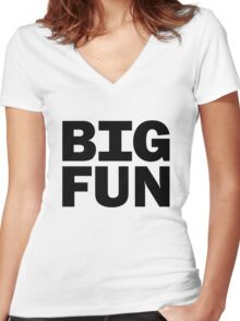 Big Fun - Heathers Women's Fitted V-Neck T-Shirt