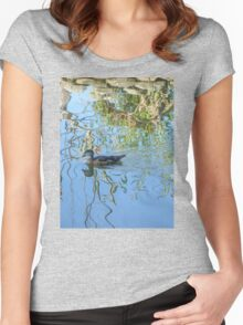 Tranquility at the Lagoon Women's Fitted Scoop T-Shirt