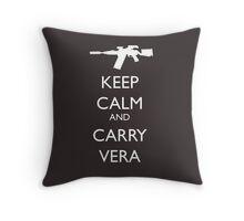 Keep Calm and Carry Vera Throw Pillow
